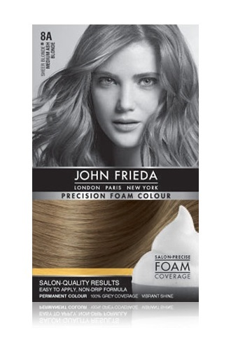 John Frieda Precision Foam Colour - 8A (Medium Ash Blonde) image
