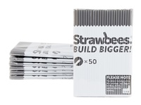 Strawbees Straws Refill Grey (50pk)