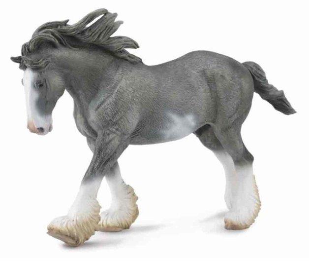 CollectA - Clydesdale Stallion (Black Sabino Roan)