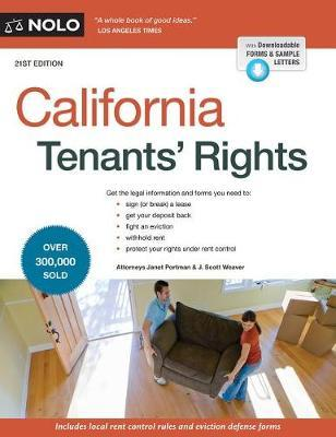 California Tenants' Rights by Janet Portman image