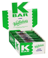 Whittaker's K Bars Bulk Counter Display - Lime (24g)