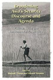 Broadening Asia's Security Discourse and Agenda by United Nations University Press