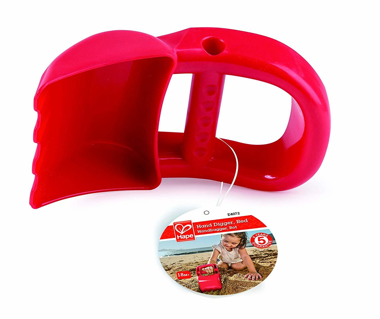 Hape: Hand Digger - Sand Toy (Red) image