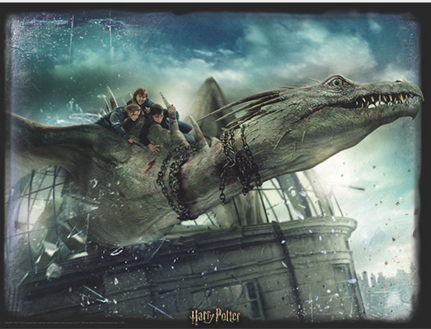 Super 3D: 300-Piece Jigsaw Puzzle - Harry Potter: Norbert