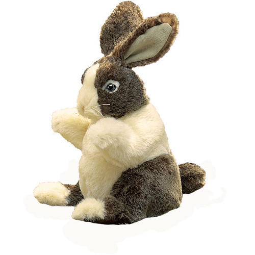 Folkmanis Hand Puppet - Baby Dutch Rabbit image