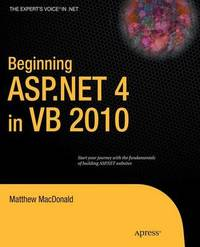 Beginning ASP.NET 4 in VB 2010 by Matthew MacDonald image