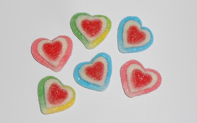 Sugar Coated Triple Hearts Sugared (2kg)