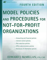 Model Policies and Procedures for Not-for-Profit Organizations by Edward J McMillan image