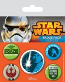 Star Wars Pin Badges (Jedi, 5-Pack)