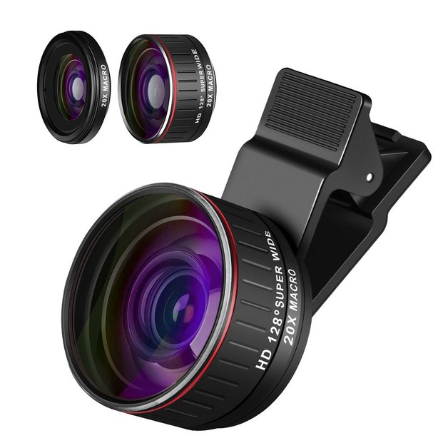 2 in 1 Camera Lens Super Wide Angle for Smartphone