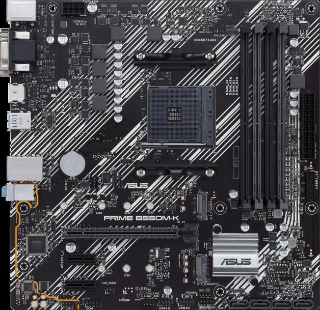 ASUS Prime B550M-K mATX AM4 Motherboard