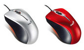 Genius Ergo 300 Mini Wired Mouse - Red USB