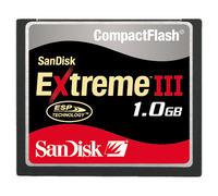 SANDISK EXTREME III 133X COMPACTFLASH 1GB image