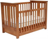 Touchwood Metro Bar Cot - Rimu Colour