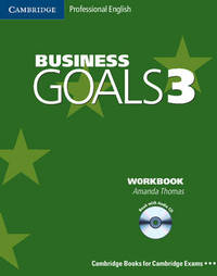 Business Goals 3 Workbook with Audio CD by Amanda Thomas image