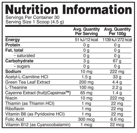 Optimum Nutrition: Burn Complex Non-Stimulant Thermogenic Drink Mix - Kiwi Strawberry (30 Serves) image