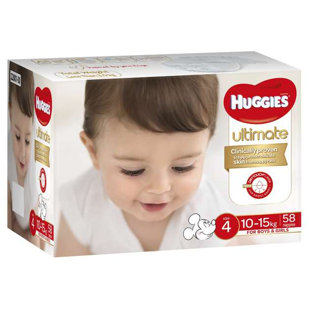 Huggies: Ultimate Nappies Jumbo - Size 4 Toddler Unisex (58)