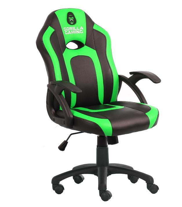 Gorilla Gaming Little Monkey Chair - Black & Green for