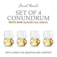 Final Touch: Conundrum - White Wine Glasses (Set of 4)