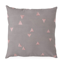 Me & My Trend: Grey Cushion with Pink Triangles