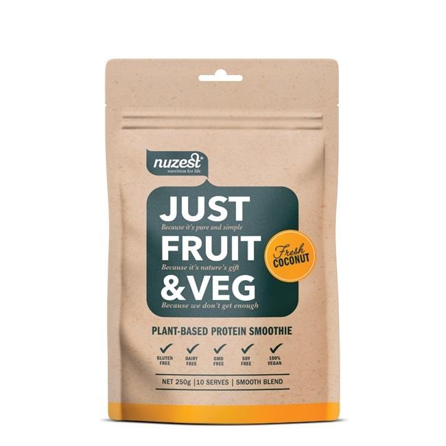 Just Fruit & Veg Protein Smoothie - Fresh Coconut (250g) image