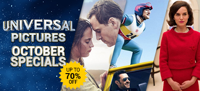 Universal Pictures October Specials - Up to 70% off!