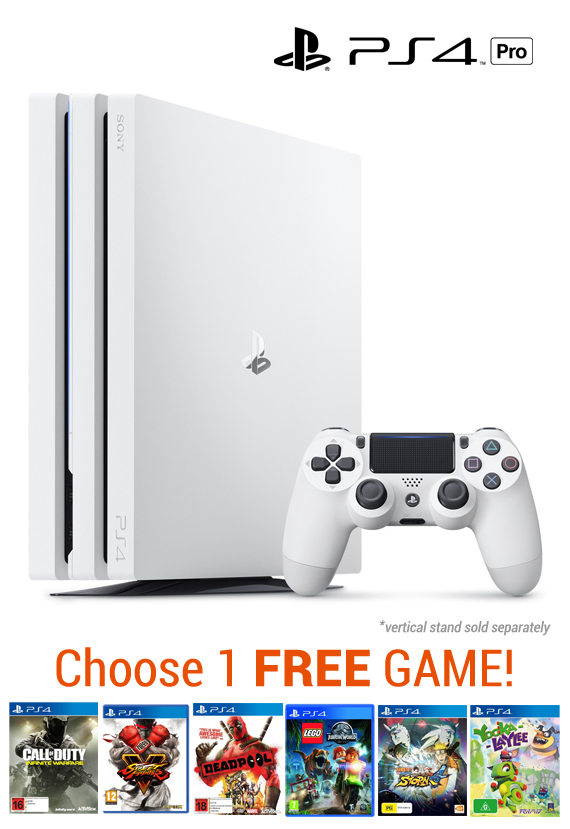PlayStation 4 PRO 1TB Console - White for PS4 image