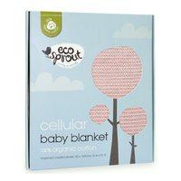 Eco Sprout: Cotton Cellular Bassinet Blanket - Powder Pink image