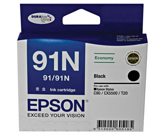 Epson Ink Cartridge 91N (Black)