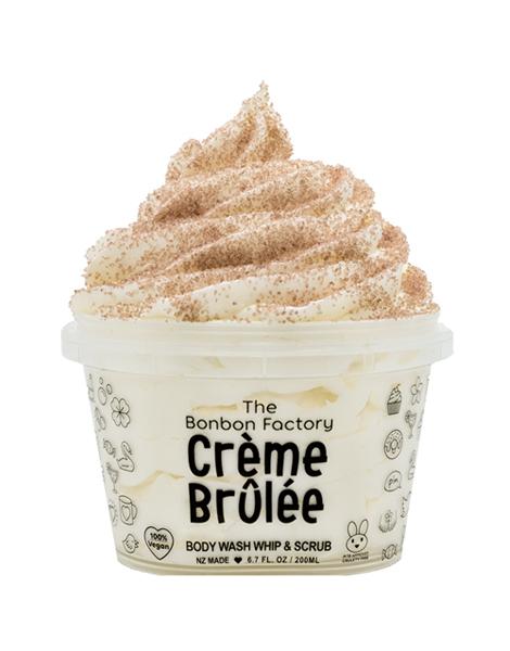 The Bonbon Factory Body Wash & Scrub - Creme Brulee (200g)