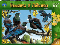 Holdson: 300-Piece XL Puzzle - Treasures of Aotearoa S1 (Tui Talk)