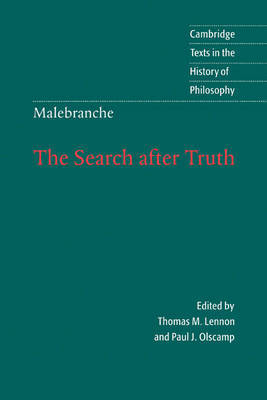 Malebranche: The Search after Truth by Nicolas Malebranche