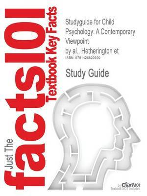 Studyguide for Child Psychology by Cram101 Textbook Reviews image