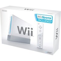 Nintendo Wii Console White with Wii Sports and Wii Sports Resort for Wii image