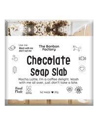 The Bonbon Factory - Mocha Latte Chocolate Soap Slab (80g)