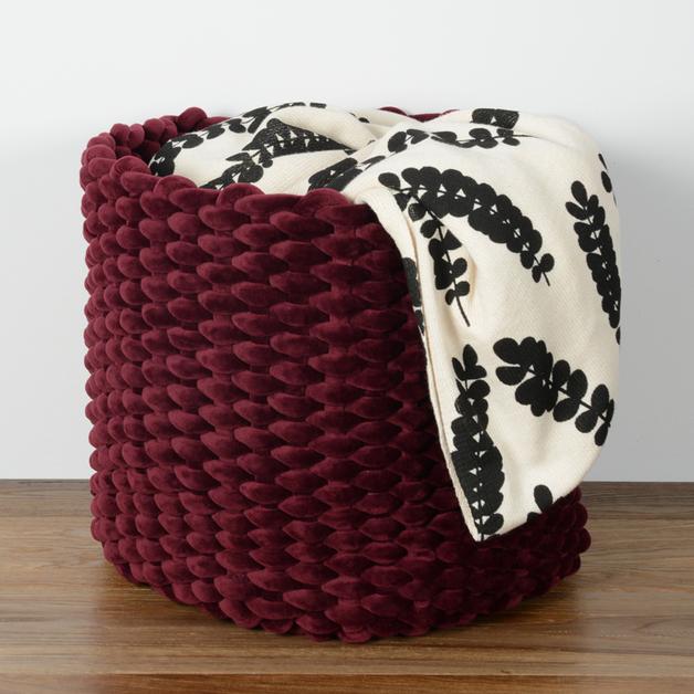 Moxy Velvet Pot Holder (Large) - Burgundy