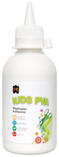 Educational Colours: Kids Washable - PVA Glue (250ml)