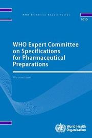 WHO Expert Committee on Specifications for Pharmaceutical Preparations fifty-second report by World Health Organization image