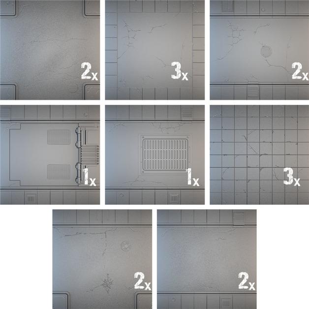 Tablescapes Tiles: Urban Streets - Clean (16 tile set)