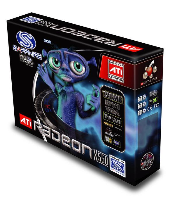 Sapphire Radeon Video Card X550SE 256MB PCIE image