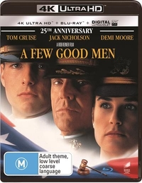 A Few Good Men on Blu-ray, UHD Blu-ray, UV