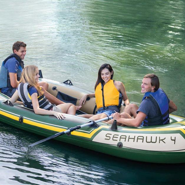 Intex: Seahawk 4 - Inflatable Boat Set
