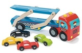 Le Toy Van: Race Car Transporter Set