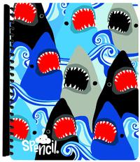 Spencil: A4 Display Book - Sharks (20 Pocket)