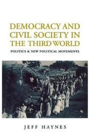 Democracy and Civil Society in the Third World by Jeffrey Haynes image