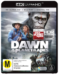Dawn Of The Planet Of The Apes on Blu-ray, UHD Blu-ray