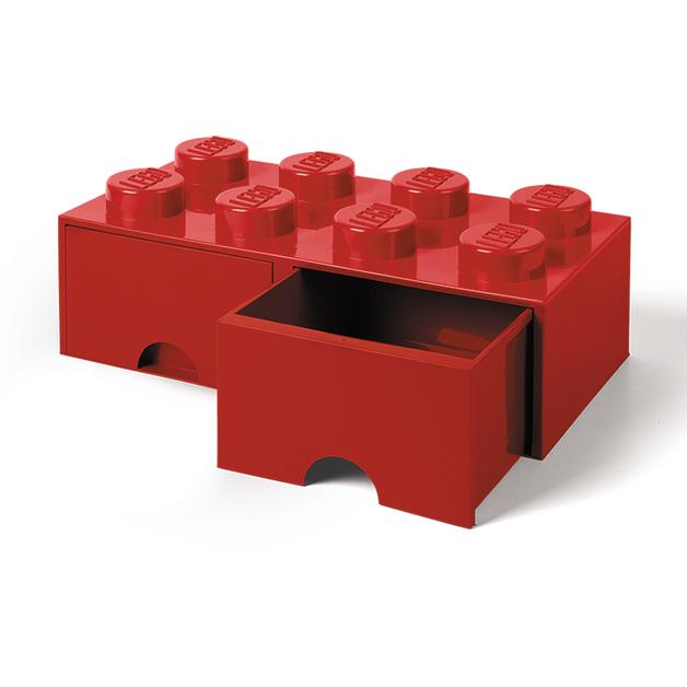 LEGO Storage Brick Drawer 8 (Red)