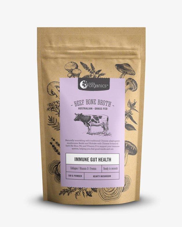 Nutra Organics Beef Bone Broth - Hearty Mushroom (100g)