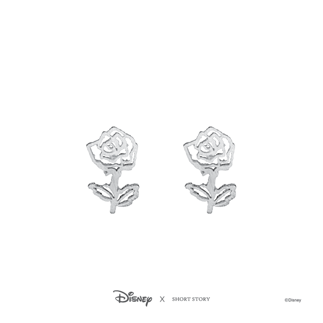 Short Story: Disney Earring Belle Rose - Silver