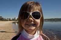 Baby Banz Retro Sunglasses (Cool White) image